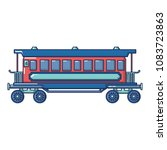 retro passenger wagon icon.... | Shutterstock .eps vector #1083723863