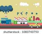 the greenhouse effect... | Shutterstock .eps vector #1083743753