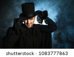 man in a black top hat and... | Shutterstock . vector #1083777863