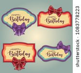 template set of colorful... | Shutterstock .eps vector #1083778223