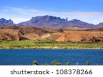 Beautiful landscape of Lake Havasu in Arizona - stock photo