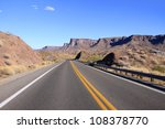 Scenic landscape by the historic route 66 - stock photo