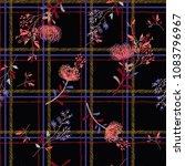 a black seamless pattern spring ... | Shutterstock .eps vector #1083796967