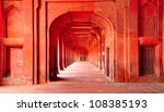 Ancient architecture. India - stock photo