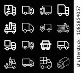 set of 16 lorry outline icons...   Shutterstock .eps vector #1083854057