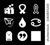 set of 9 shapes filled icons...   Shutterstock .eps vector #1083855203