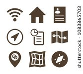 set of 9 interface filled icons ... | Shutterstock .eps vector #1083865703