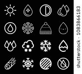 set of 16 weather outline icons ... | Shutterstock .eps vector #1083866183