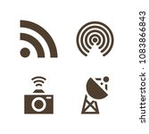 set of 4 signal filled icons...   Shutterstock .eps vector #1083866843
