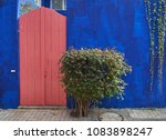bright pink wooden wicket on a... | Shutterstock . vector #1083898247