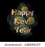 happy new year | Shutterstock .eps vector #108394157