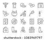 pharmacy icon set. included the ... | Shutterstock .eps vector #1083969797