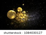 abstract chaotic glittering... | Shutterstock . vector #1084030127