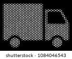 pixel white shipment van icon... | Shutterstock .eps vector #1084046543