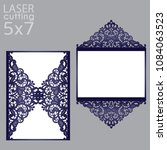 laser cut wedding invitation... | Shutterstock .eps vector #1084063523