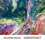 colorful paints in abstract...   Shutterstock . vector #1084090607