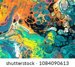 colorful paints in abstract...   Shutterstock . vector #1084090613