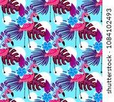 summer tropical seamless... | Shutterstock .eps vector #1084102493