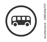 bus icon  black isolated on... | Shutterstock .eps vector #1084106747
