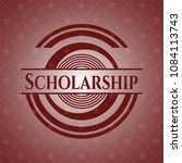 scholarship realistic red emblem   Shutterstock .eps vector #1084113743