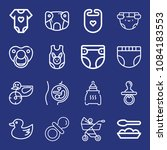 set of 16 baby outline icons...   Shutterstock .eps vector #1084183553