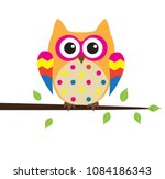vector illustration of cute... | Shutterstock .eps vector #1084186343