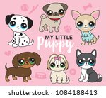 vector illustration of cute... | Shutterstock .eps vector #1084188413