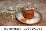 gourmet homemade barbecue sauce ... | Shutterstock . vector #1084191083