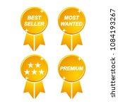 golden best seller most wanted... | Shutterstock .eps vector #1084193267