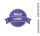 sold more than 1000 best seller ... | Shutterstock .eps vector #1084193273
