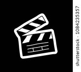 clapperboard doodle icon | Shutterstock .eps vector #1084235357