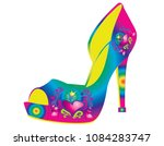 woman shoes with heart | Shutterstock .eps vector #1084283747