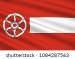 flag of erfurt is the capital... | Shutterstock . vector #1084287563