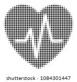pixelated black cardiology icon.... | Shutterstock .eps vector #1084301447