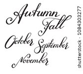 names ov seasons and months  ... | Shutterstock .eps vector #1084303277