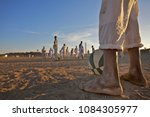 Small photo of Every Day football games are organised on the central square of the el Arr village in the northern Sudan