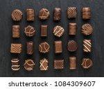 beautiful creative chocolate... | Shutterstock . vector #1084309607