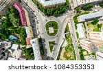 aerial city view with... | Shutterstock . vector #1084353353