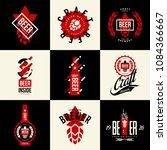 modern isolated craft beer... | Shutterstock .eps vector #1084366667