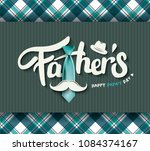 happy father s day calligraphy... | Shutterstock .eps vector #1084374167