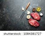 raw marbled meat steak ribeye... | Shutterstock . vector #1084381727