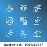 medical icon set and aid family ... | Shutterstock .eps vector #1084388867