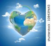 Love Planet 3d Concept   Heart...