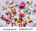 beads  colorful beads for... | Shutterstock . vector #1084401197
