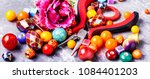 beads  colorful beads for... | Shutterstock . vector #1084401203
