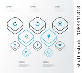 picture icons colored set with... | Shutterstock .eps vector #1084411313