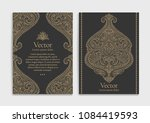 gold vintage greeting card on a ... | Shutterstock .eps vector #1084419593