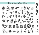 vector set of hand drawn summer ... | Shutterstock .eps vector #1084435547
