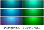backgrounds mosaic set  simple... | Shutterstock .eps vector #1084437563