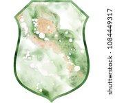 watercolor crest romantic frame ...   Shutterstock . vector #1084449317